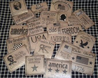 Prim Pantry Paper Labels - 21 Patriotic Set