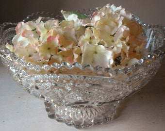 Large Glass Pedestal Fruit Bowl by Imperial Glass