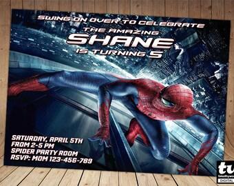 Amazing Spiderman Invitation