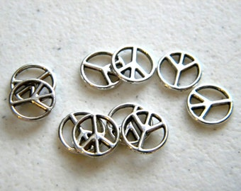 10 Small Peace Charms