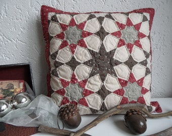 Jaipur Stars pillow cover patern in English. Paper version.