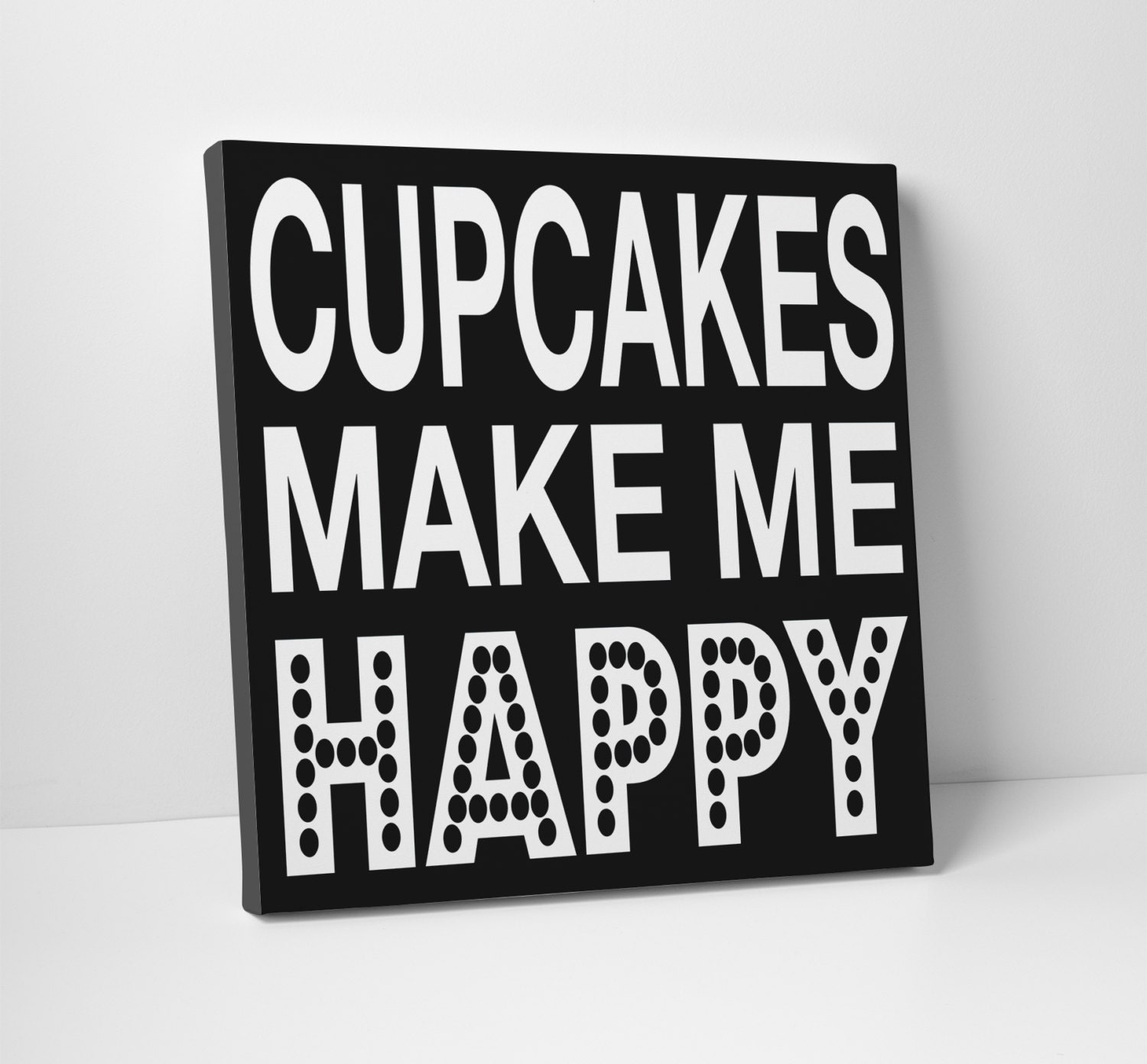 Cupcake wall art cupcakes make me happy by thestandardcanvas for Cupcake wall art