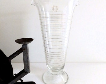 Antique Laboratory Double Spouted Measuring Glass Industrial Edgy Home Decor
