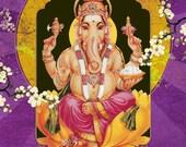 Ganesh - 8pc Greeting Card Variety Pack by Angi and Silas - All Occasions - Buddha - Tara - Kwan Yin - Quan Yin - Namaste