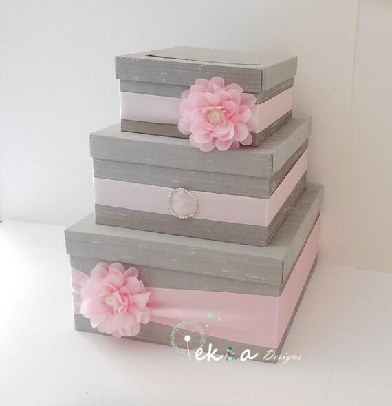 3 Tier Wedding Gift Box : Wedding card box / wedding gift card box/ wedding money box /