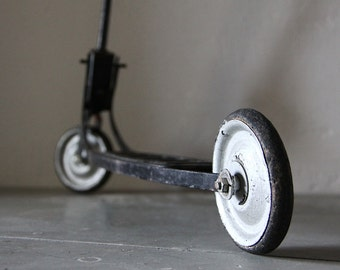 French Vintage Childs Metal Scooter Toy Scooter