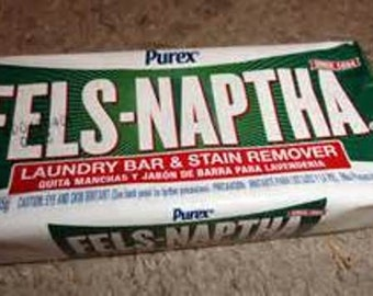 Fels Naptha Laundry Bar and Stain Remover.  Make your own homemade laundry soap!