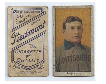 1909 T-206 Honus Wagner RP (circa 1995) Very Seasoned looking! From the Honus Wagner Estate, 100% Authorized. Very Authentic looking card