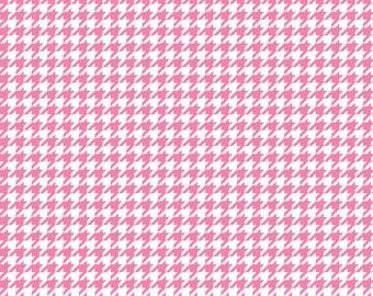 Pink houndstooth craft  vinyl sheet - HTV or Adhesive Vinyl -  medium pink and white pattern vinyl  HTV417