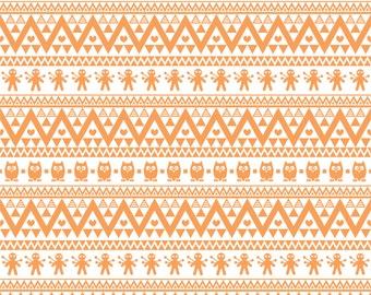 Peach owl tribal pattern craft  vinyl sheet - HTV or Adhesive Vinyl -  Aztec Peruvian pattern HTV326