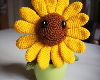Happy Crochet Amigurumi Flower Sunflower