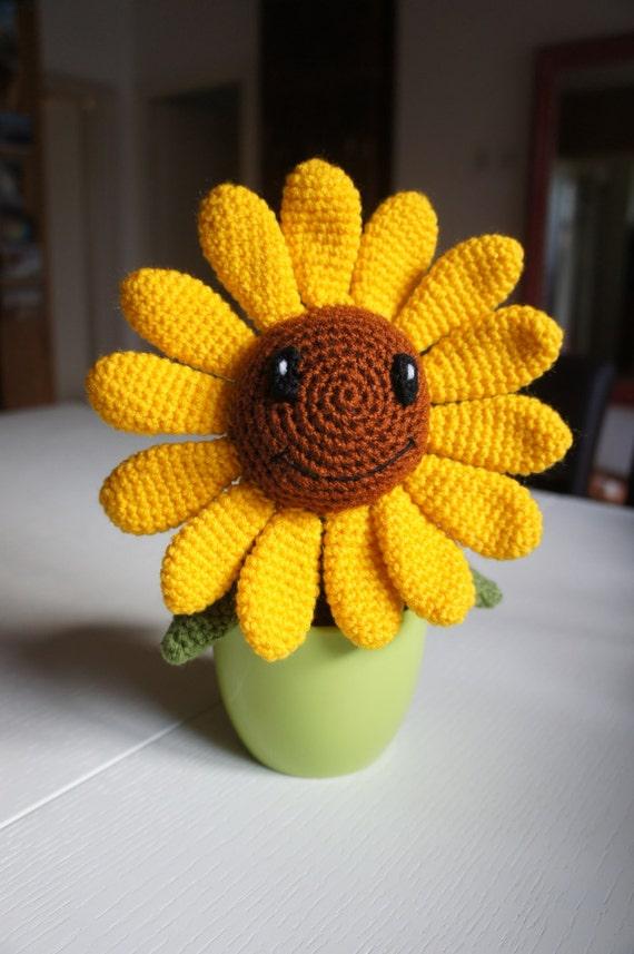 Crochet Amigurumi Flowers : Happy Crochet Amigurumi Flower Sunflower
