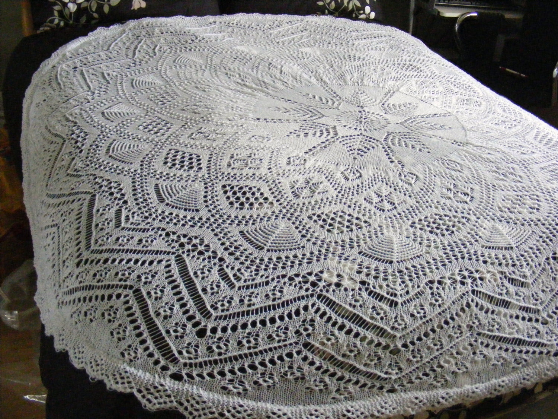 Shetland circular baby shawl knitting pattern in 3ply Instant