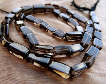 Natural Smoky Quartz 5 to 9 mm Smooth Rectangle beads Full 13 inch strand-AAA-Best Price