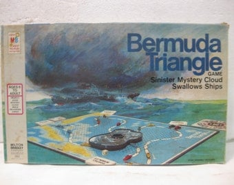 1976 Milton Bradley Bermuda Triangle Board Game Sinister Mystery Cloud Swallows Ships gm408