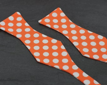 Handmade bow tie red polka dot self tie freestyle colorful cotton bowtie