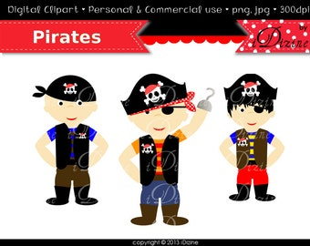 Sale!!! Pirates  Clip Art images  (Personal & Commercial Use)