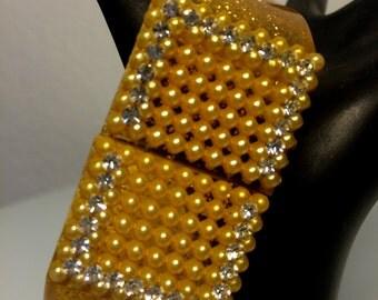 FREE  SHIPPING   Lucite Glitter confetti  clamp  Bracelet