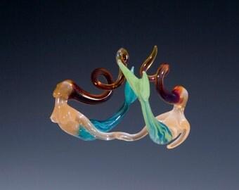 Blown Glass-Mermaids Ornament