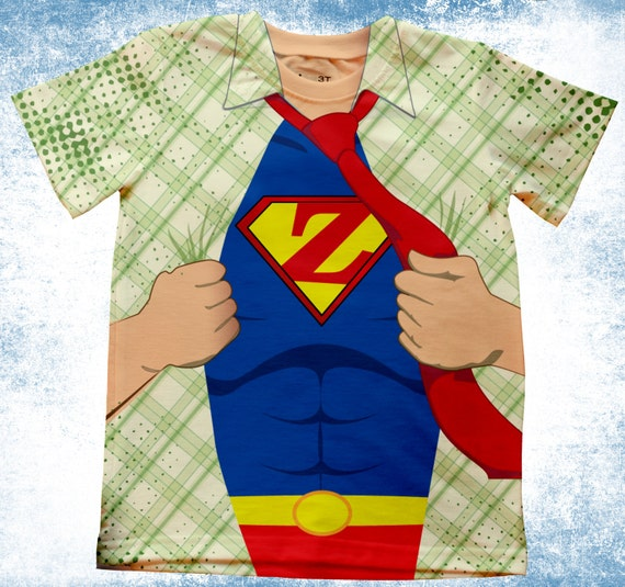 Personalized adult superman inspired t shirt by for Make your own superman shirt