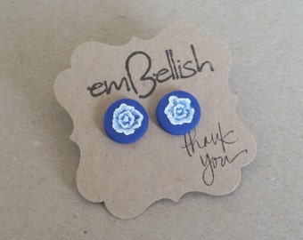 Polymer Clay Flower Studs *free shipping*