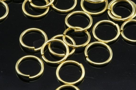 Open jump ring 100 pcs  14 mm 15 gauge( 1,5 mm ) raw brass (varnish) jumpring 1415JV-60