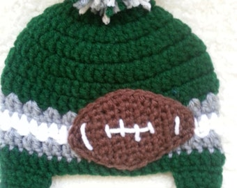 Crochet Philadelphia Eagles Hat