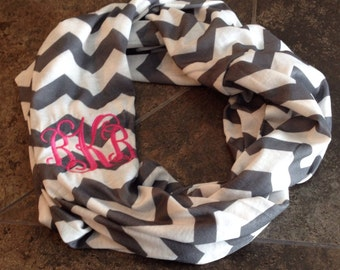 Monogrammed chevron scarf