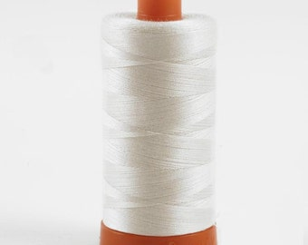 Aurifil Thread  White 50 WT 100% Cotton 1422 yards (2021)