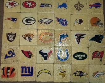 Complete NFL Team Coaster Set (32 Coasters Total)