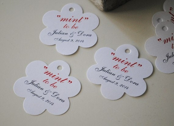 Minted Wedding Gift Tags : Wedding Favor Tags Mint To Be Tags Wedding favor tag set of 30