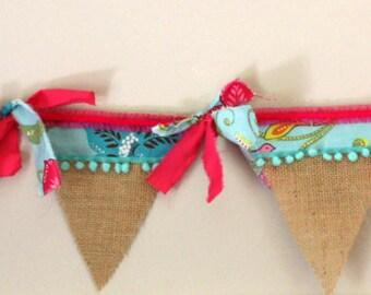 Custom Girls Burlap Pendant Banner