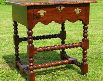 Late 17th century style bobbin side table.