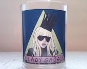 Lady Gaga Glass Votive Candle // LGBTQ Altar Candle