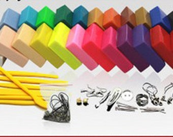 24 Colors Clay with Tool Polymer Clay DIY Materials for Polymer Clay Crafts