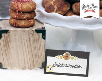 Holiday Cookie Exchange Labels // INSTANT DOWNLOAD // Christmas Cookie Swap // Printable CE01