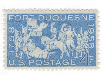 4c Fort Duquesne // 1958 Vintage Unused US Postage Stamps // Qty of 10 // No. 1123