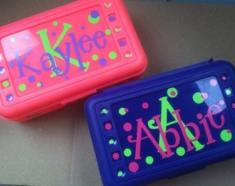 Personalized Pencil BOX-Simple detail