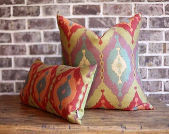 Flame stitch pillow cover