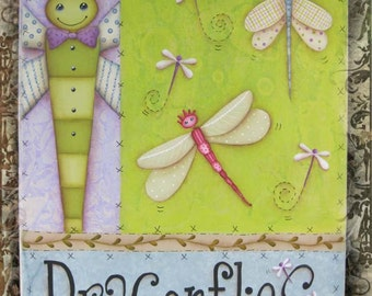 Dragonflies Royale - Painted by Susan Kelley, Painting With Friends E Pattern