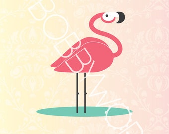 True Color - Flamingo Print
