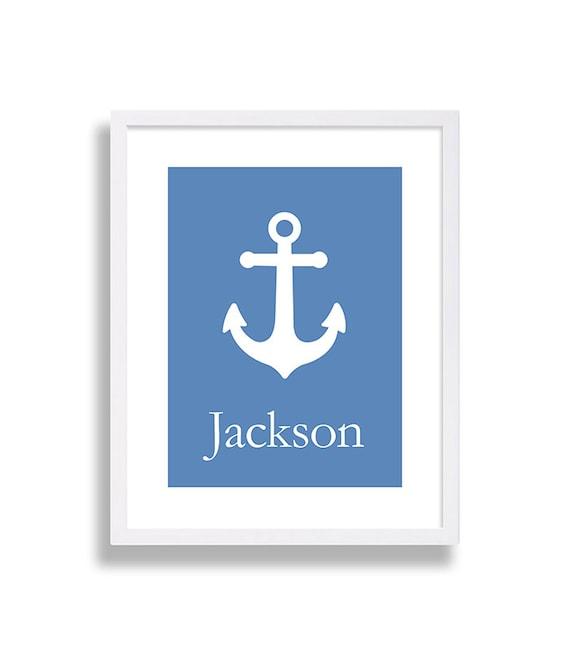 Nautical Nursery Decor Anchor Nursery Art Blue Nursery Room