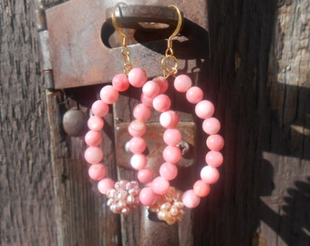 Bubble Gum Pop Beaded earrings