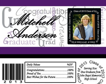 GRADUATION Phrases Subway Art Photo Candy Bar Wrappers Printed or Digital File FREE SHIPPING