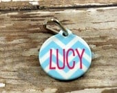 Personalized {double sided} ID tag -Pet Tag - Choose your Chevron - Name Tag -Pet Identification if lost - Custom Pet tag