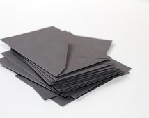 "25 Mini Gray Envelopes - 2.6875 x 3.6875 inches (2 11/16"" x 3 11/16"")  - Guest Book Envelopes, Favor Envelopes, Placecard Envelopes"