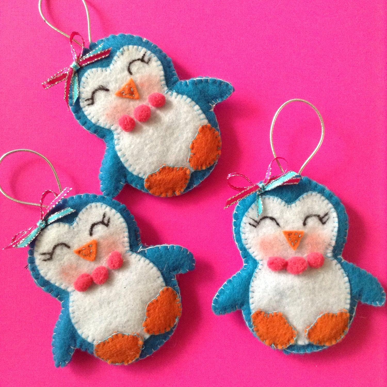 Penguin Felt Ornaments / Christmas Tree Ornament / Xmas
