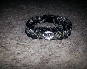 Military Support Paracord Bracelet with Charm