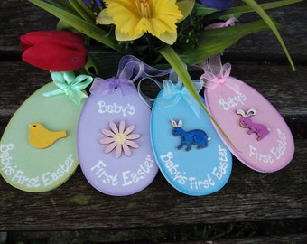 Personalised Baby's 1st Easter Egg decoration
