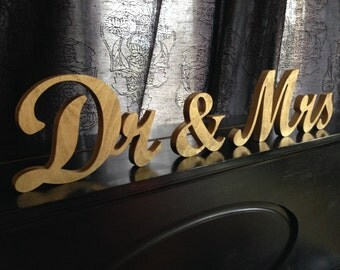 Gold  Dr. & Mrs. wedding sign for sweetheart table,engagement ,phototography ,prop photo prop ,sweetheart table ,MR MRS,Table sign